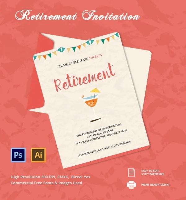 Sample Card For Invitation Retired Download \u2013 orderecigsjuiceinfo