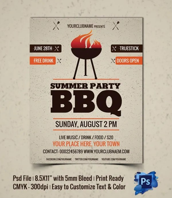 25+ BBQ Flyer Template - Free Word, PDF, PSD, EPS, InDesign Format - bbq flyer