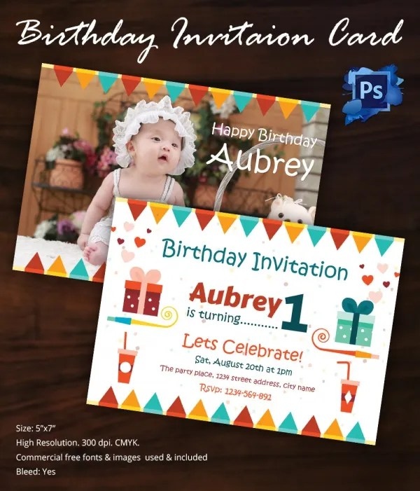 Party Invitation Template u2013 31+ Free PSD, Vector EPS, AI, Format - free first birthday invitation template