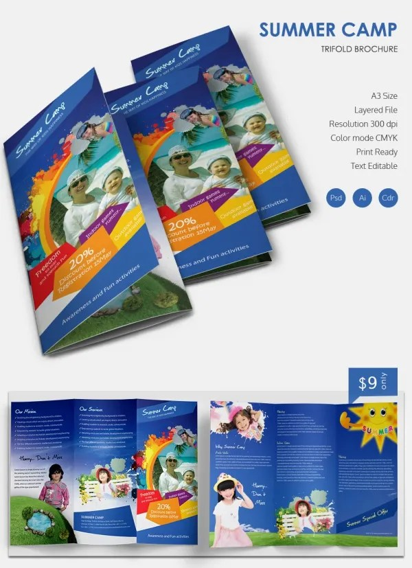 10+ Amazing Camp Brochure Templates Free  Premium Templates - brochure format word