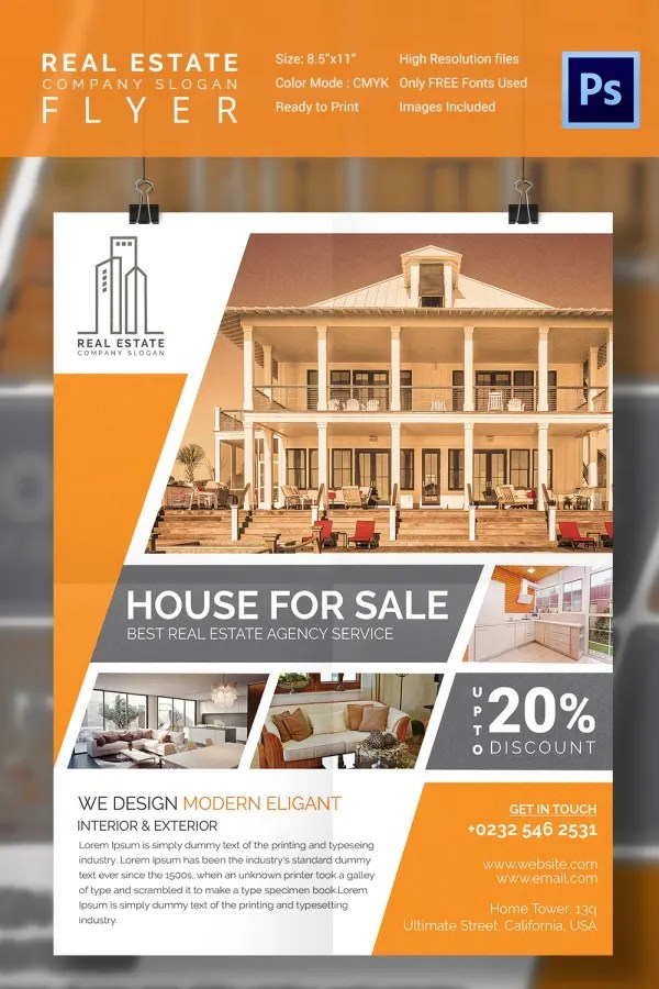 home flyer - Idealvistalist - house for sale sign template