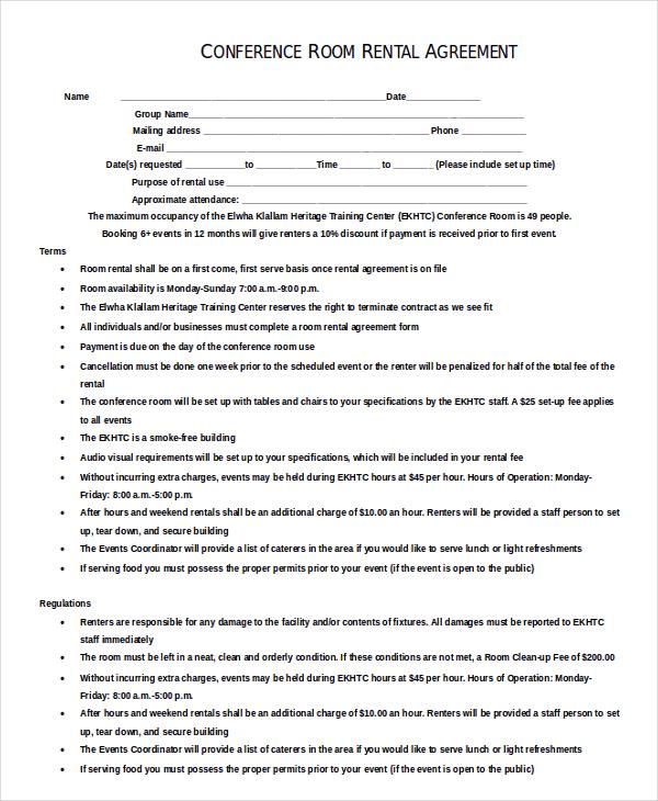 Enterprise Rental Agreement \u2013 8+ Free Word, PDF Documents Download