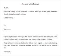 26+ Sample Appraisal Letters - PDF, DOC | Free & Premium ...