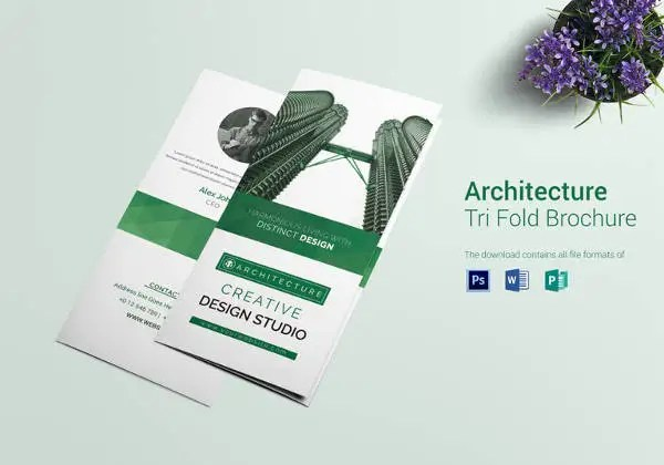 33+ Professional Brochure Templates u2013 Free Word, PSD, PDF, EPS - architecture brochure template