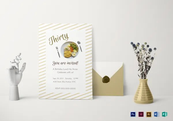 Lunch Invitation Template - 34+ Free PSD, PDF Documents Download - lunch invitation templates
