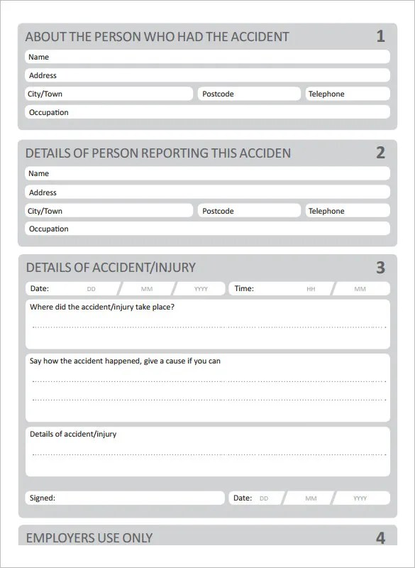 10+ Accident Report Templates - PDF, DOC Free  Premium Templates - Accident Report Template