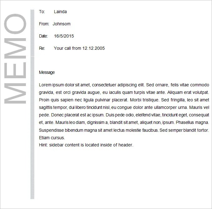 Business Memo Template - 18+ Free Word, PDF Documents Download - memo sample in word