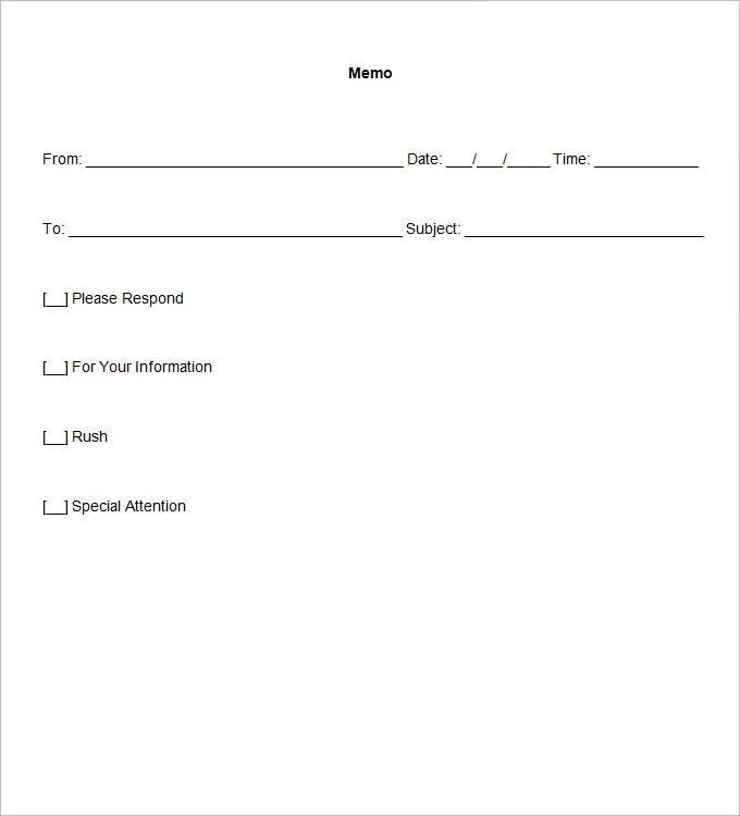 Blank Memo Template - 18 Free Word, PDF Documents Download Free - blank memo template