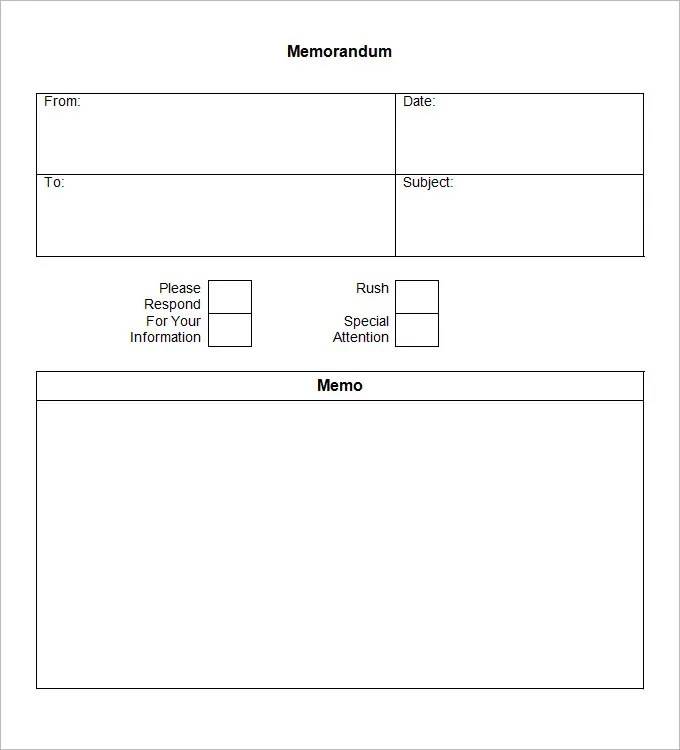 Blank Memo Template - 18 Free Word, PDF Documents Download Free