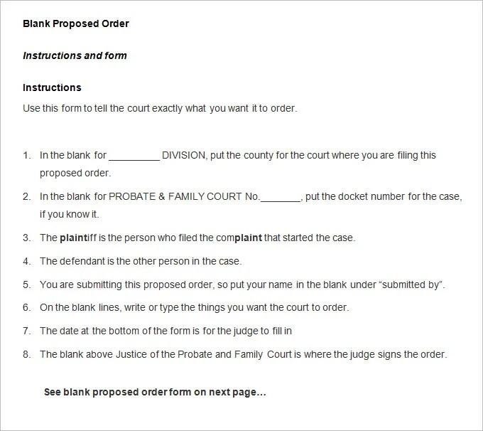 41+ Blank Order Form Templates - PDF, DOC, Excel Free  Premium