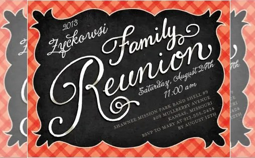 free family reunion invitations templates download - Funfpandroid