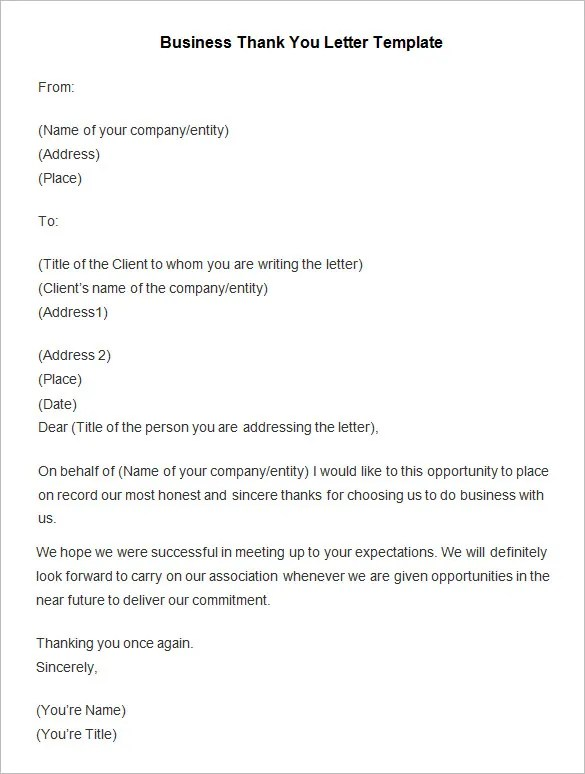 Employee Thank You Letter Employee Thank You Letter Template Free
