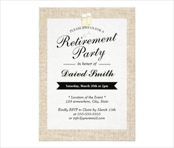 Retirement Party Invitation Templates – Retirement Party Invitation Template Free