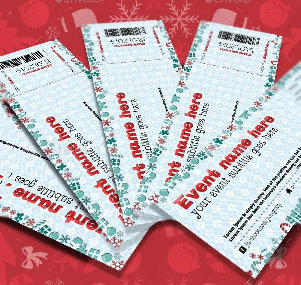 Ticket Invitation Template - 59+ Free PSD, Vector EPS, AI, Format - christmas party tickets templates