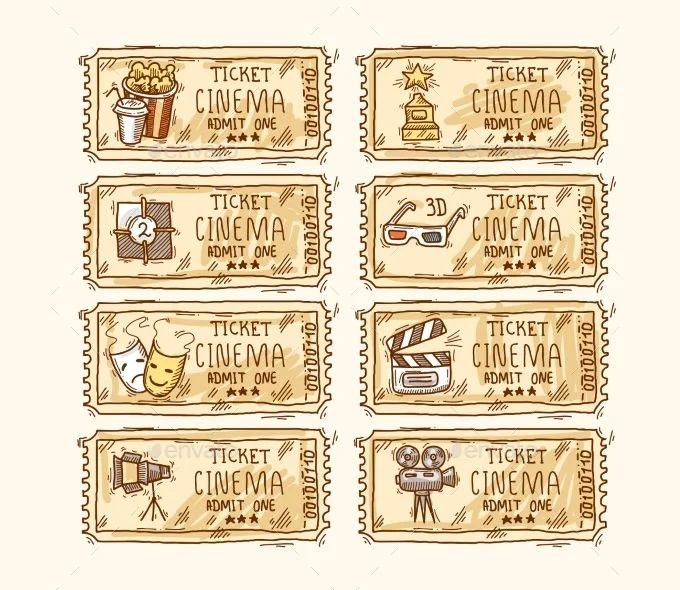 blank movie ticket template
