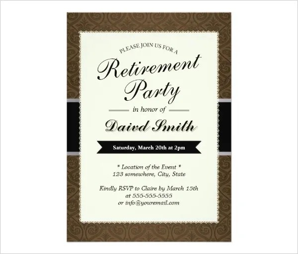 retirement party flyer templates free - Gottayotti
