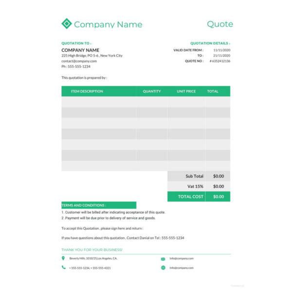 41+ Quotation Templates - PDF, DOC, Excel Free  Premium Templates