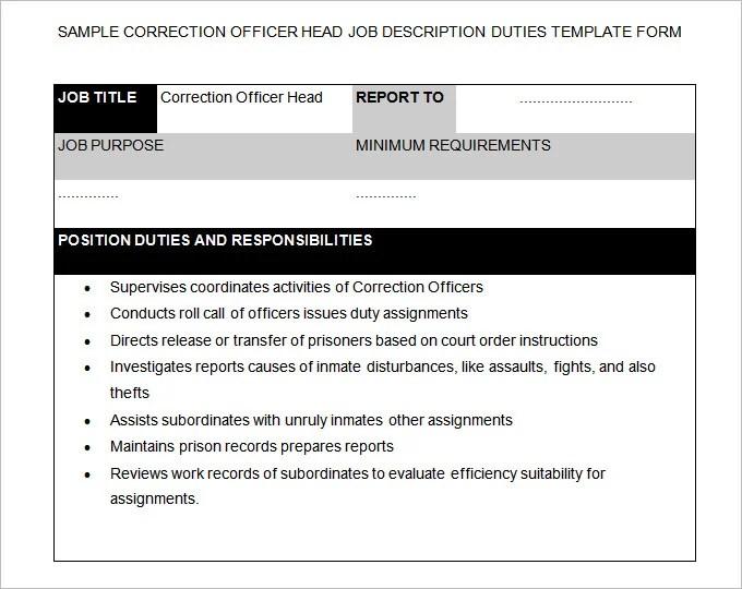 Correctional Officer Job Description - staruptalent -