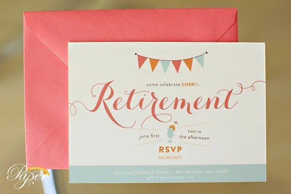 30+ Retirement Party Invitation Design  Templates - PSD, AI, Vector - retirement party card