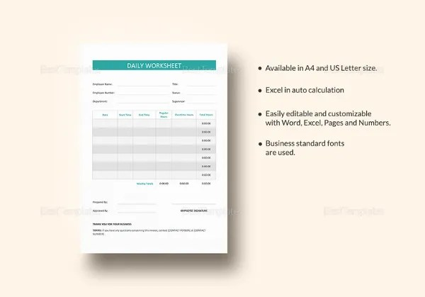 8+ Worksheet Templates For Teacher \u2013 Free Word, PDF Documents