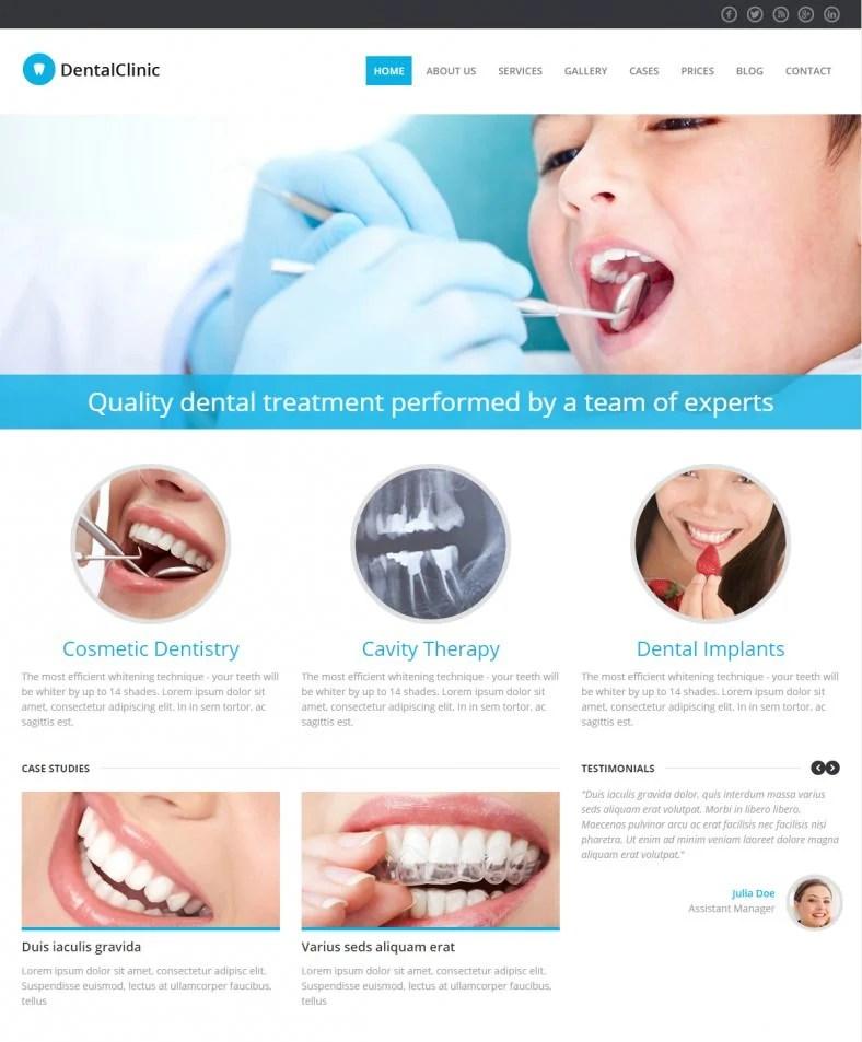10+ Best Dentist Website TemplatesFree  Premium Themes Free
