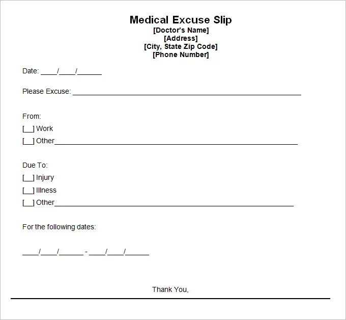 9+ Doctor Excuse Templates - PDF, DOC Free  Premium Templates