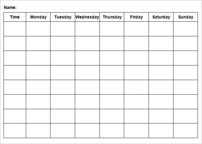 weekly agenda template excel