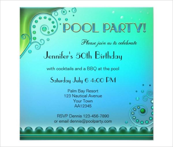 Pool Party Invite \u2013 gangcraftnet