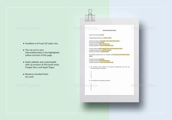 13+ Sample HR Appraisal Forms - PDF, DOC Free  Premium Templates