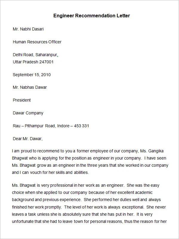 recommendation letter for job position - Leonescapers - writing captivating recommendation letter