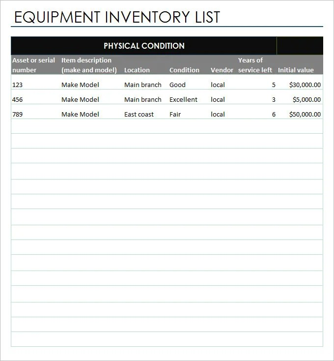 Inventory Report Template - 21+ Free Excel Documents Download Free