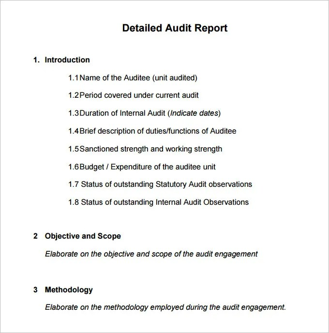 15+ Internal Audit Report Templates - Free Sample, Example Format - audit quotation
