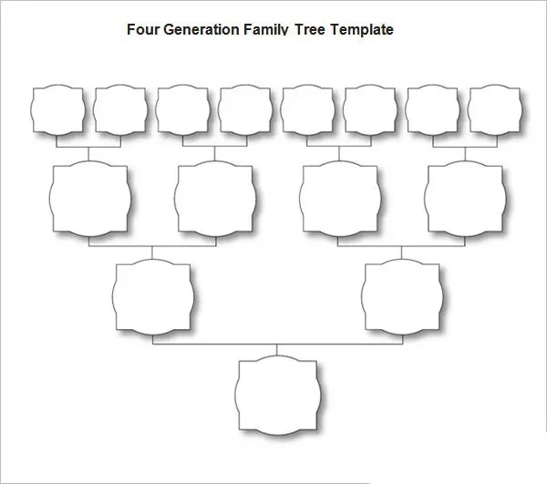 plain family tree template - Ozilalmanoof - blank family tree template