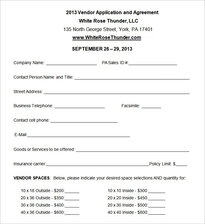 sample of vendor registration form - Jolivibramusic