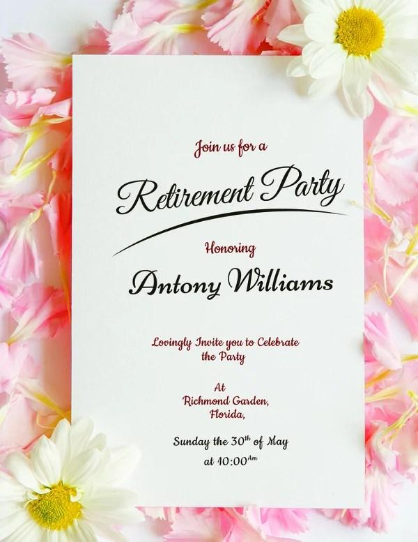 30+ Retirement Party Invitation Design  Templates - PSD, AI, Vector - free retirement party invitations