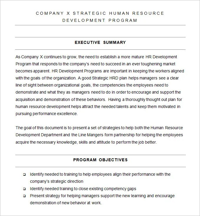 Developing Program Templates Leadership Development Plan - sample program templates