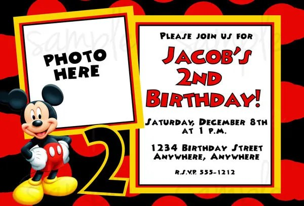 mickey mouse invitation template free mickey mouse invitation - free downloadable invitation templates