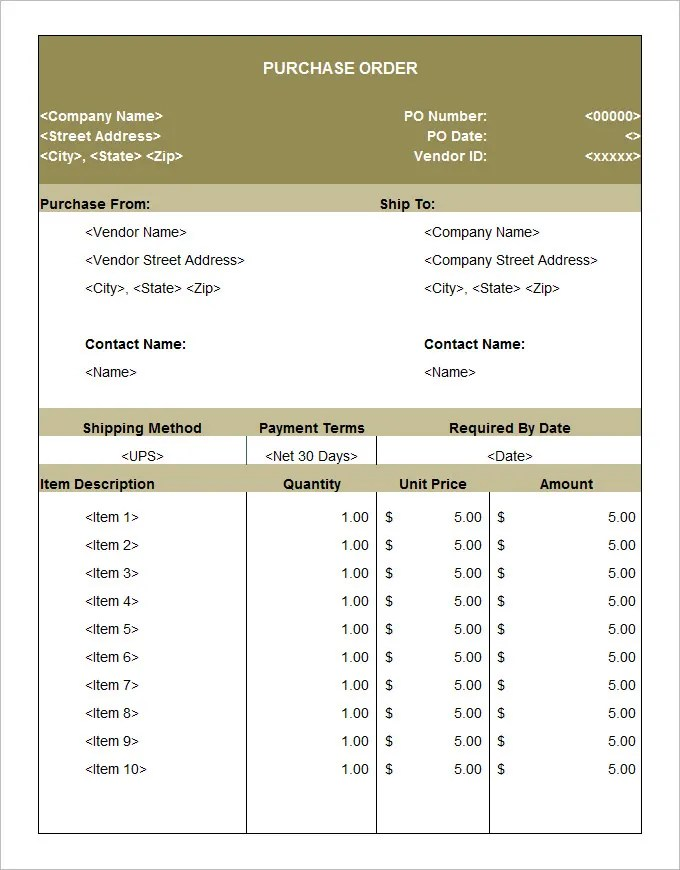 53+ Purchase Order Examples - PDF, DOC Free  Premium Templates