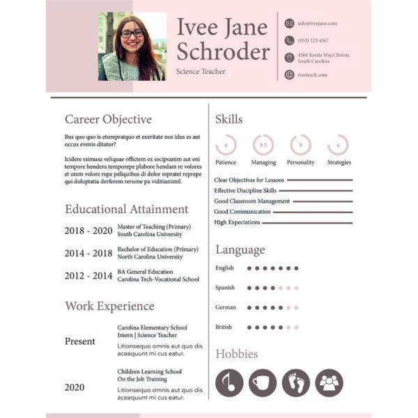 28+ Resume Format Templates - PDF, DOC Free  Premium Templates