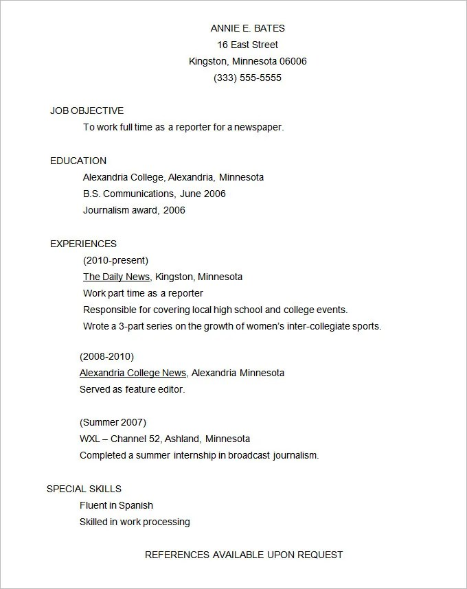Functional Resume Template \u2013 15+ Free Samples, Examples, Format - resume format example
