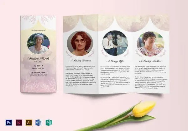 32+ Funeral Program Brochure Templates - PSD, AI, Word Free