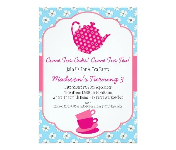 41+ Tea Party Invitation Templates - PSD, AI Free  Premium Templates