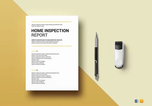 Sample Home Inspection Report Template - 9+ Free Word, PDF Documents - home inspection report template