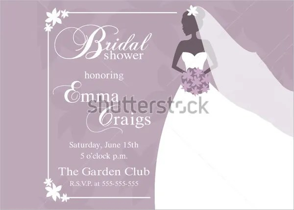 27+ Wedding Shower Invitation Templates PSD Invitations Free - bridal shower invitation samples
