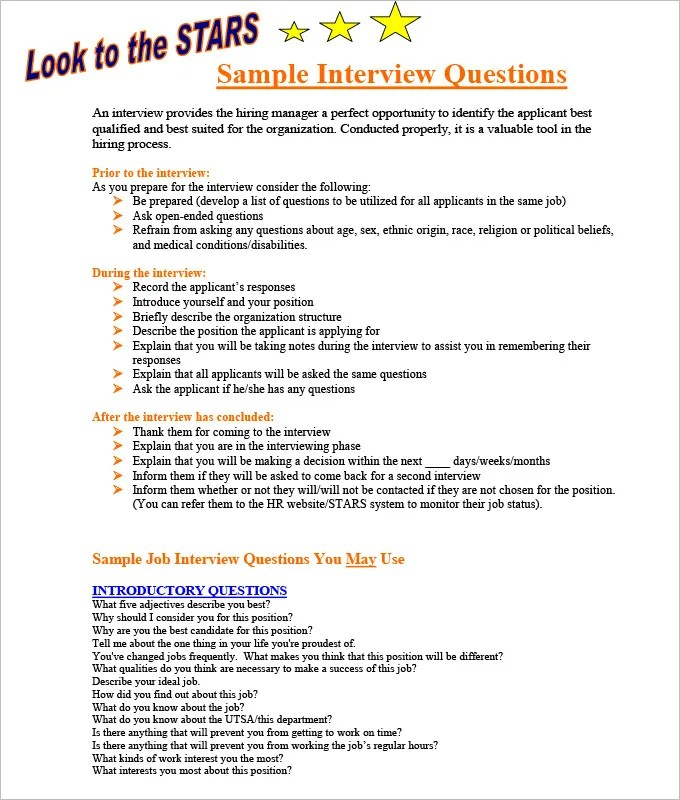 6+ HR Interview Forms HR Templates Free  Premium Templates
