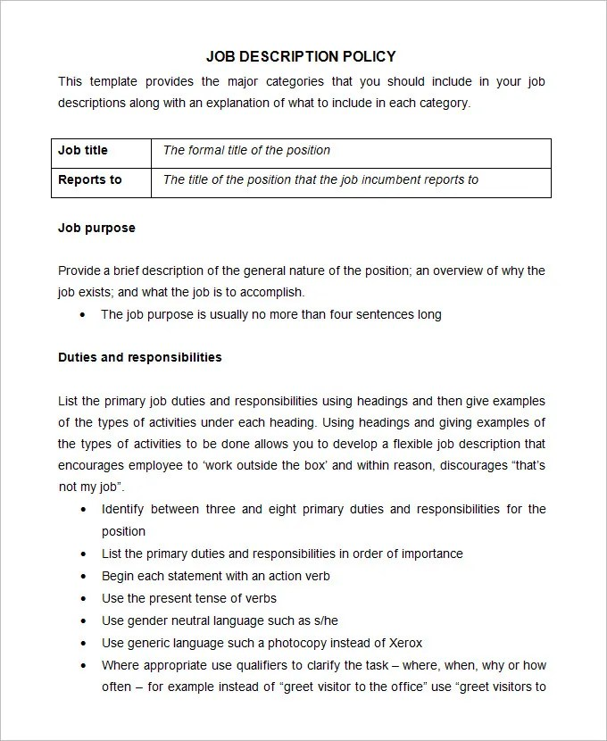 Office Manual Template oakandale - Job Manual Template