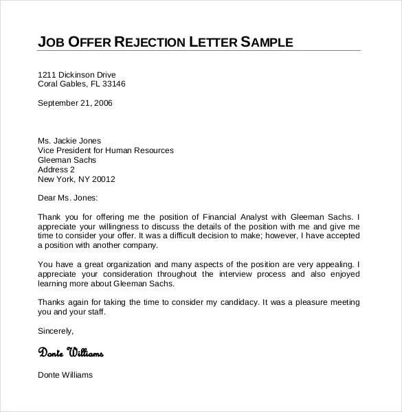 27+ Rejection Letters Template HR Templates Free  Premium