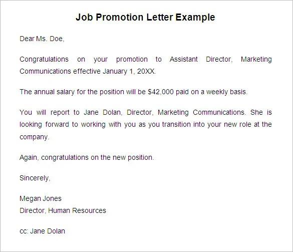 20+ Promotion Letter Templates - PDF, DOC Free  Premium Templates