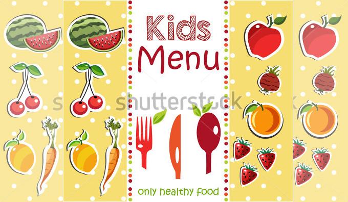Kids Menu Template u2013 Traguspiercinginfokids menu template