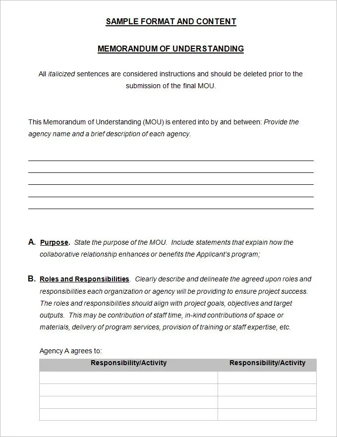 free memorandum of understanding template download memorandum download free business letter templates and forms of understanding
